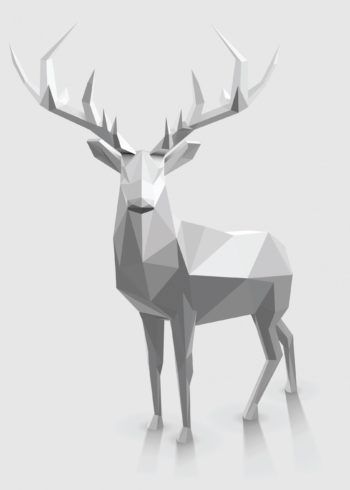 Christmas reindeer polygonal graphic