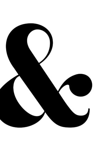 Ampersand character black white