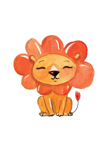 lion with flower head