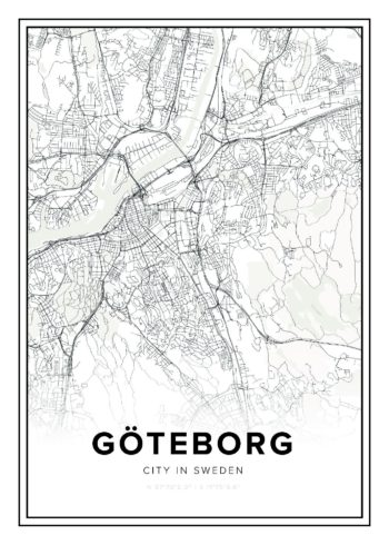 Göteborg city map